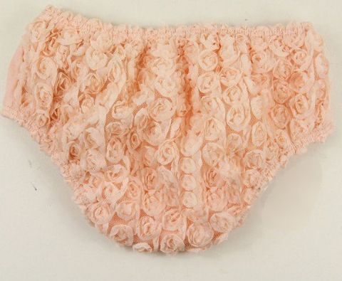 Pale VIntage Peach Rosette Nappy Cover